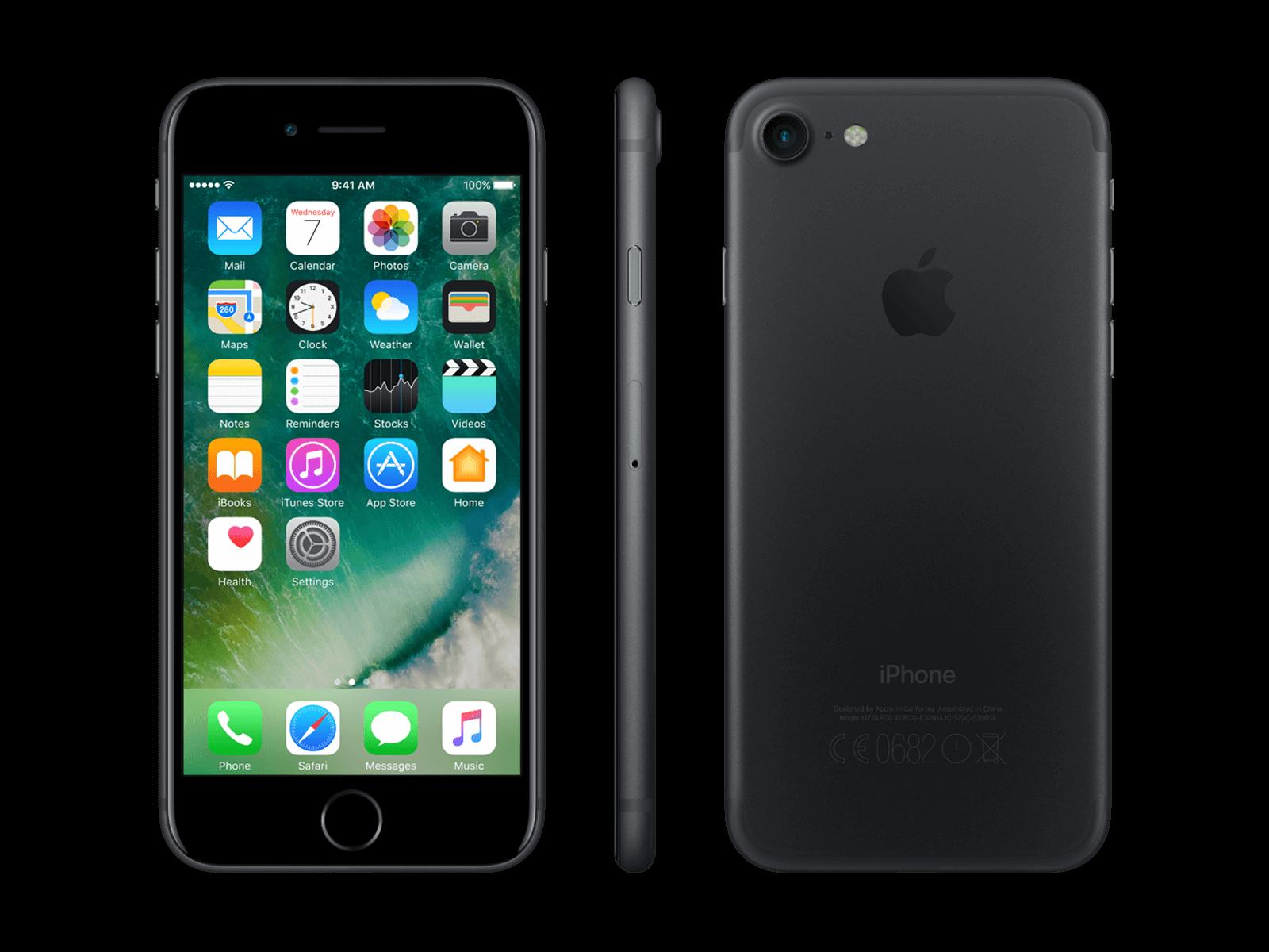 Ubrugte Køb iPhone 7 128GB Black Uden abonnement |  Humac Premium Reseller DM-33