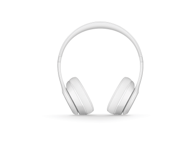 Beats Solo3 WL On-Ear Headphones - Gloss White