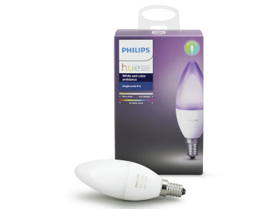Philips Hue White and Color 6W (40W) Candle E14